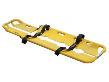 Saksebåre, gul i plast, bærekapasitet intil 159 kg