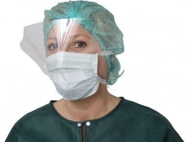 Kirurgisk munnbind med visir. pk a`5 stk