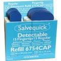 Plaster Salvequick fingertipp blå, 6754CAP, 6stk